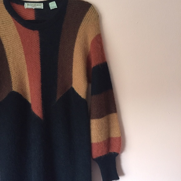 Yves Saint Laurent Dresses - Vintage Yves Saint Laurent Mohair Sweater Dress