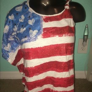 American flag/ 4th of July shirt