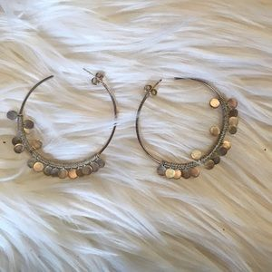 Stella & Dot Jewelry - Silver hoops with circles