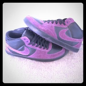 Nike Other - Purple suede, black leather high tops