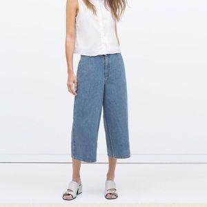 ZARA denim culotte jeans size XS ✨