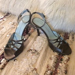 Metallic Leather Heels by Twelfth Street, Size 10.