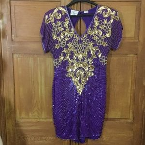 Vintage Glitter Glam Sequin Dress !