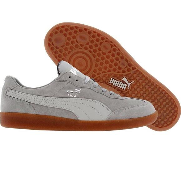 1031af93474d Puma Liga Suede Classic Limestone Gray Mens Shoes.  M 581e6b53eaf030f7c40465d2