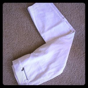 NWOT Loft White Crop Pants