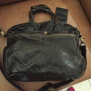 Cowboysbag leather unisex laptop bag satchel