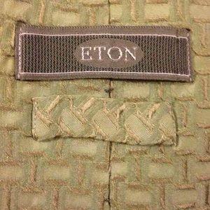 Eton Other - ETON Green Pattern Woven Silk Necktie Tie