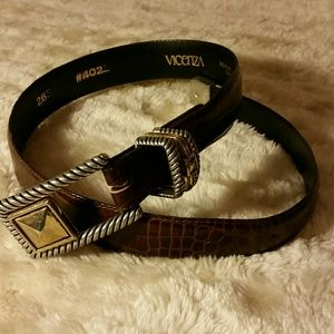 Vicenza  Accessories - Vicenza brown calfskin belt
