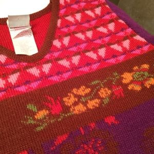 Oilily Sweaters - OILILY Wool Sweater XS Gorgeous Color Italy Floral