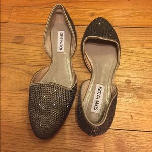 Steve Madden Shoes - Metallic d'orsay flats
