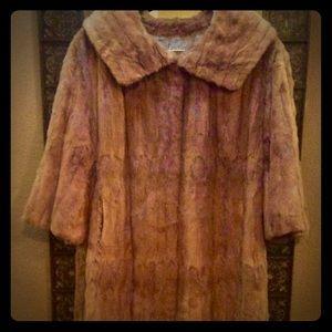 Gorgeous Authentic vintage Mink Coat Long Red Fur