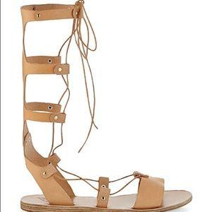 Ancient Greek Sandals Shoes - Ancient Greek Sandal  Natural gladiator sandals