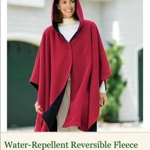 Acorn Jackets & Blazers - Reversible hooded cape black/ tan