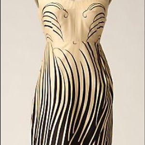 Anthropologie cream and black dress