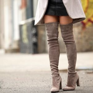 clmayfae Shoes - *LAST2* Taupe Suede Thigh High Over the Knee Boots