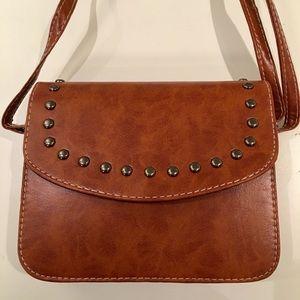 Handbags - Rivet Flap Crossbody Handbag Messenger Khaki Purse