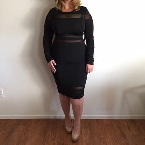 Dresses & Skirts - Sexy Black & Shear Midi