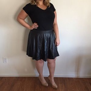 Forever 21 Dresses & Skirts - Short Pleather A-Line Skirt Forever21+