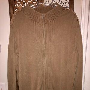 Roundtree & York Mock neck Zip Sweater