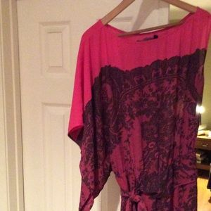 BCBG hot pink dress