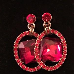 Jewelry - Ravishing Red Drop Earrings.