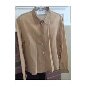 Michael Kors Saks Fifth Avenue SZ 8 Brown Shirt