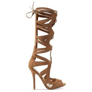 Chelsea & Zoe Shoes - Chelsea & Zoe Carass Lace-Up Gladiator High Heels