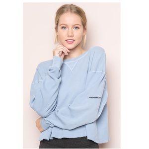 Brandy Melville blue Laila top