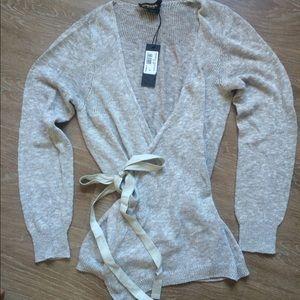 Diesel Black Gold Sweaters - Beautiful Diesel grey wrap sweater BNWT! $295!