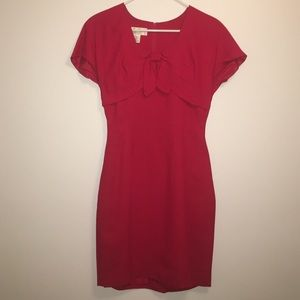 Donna Ricco Dresses & Skirts - Donna Ricco Vintage Red tie top wiggle dress