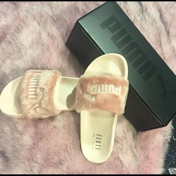 3e2e4fb20bcc21 Puma Shoes -  Rihanna fenty slides pink tumblr aesthetic