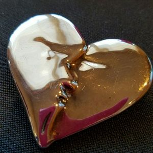 Frederic Jean Duclos Sterling Kissing Heart Pin