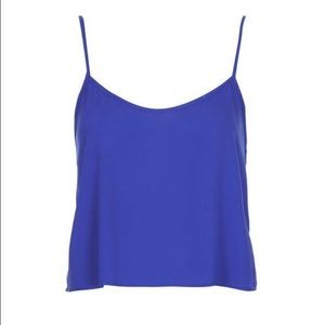 Topshop PETITE Tops - Topshop PETITE cobalt cropped strappy cami