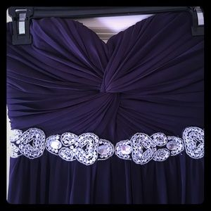 Plum long formal dress