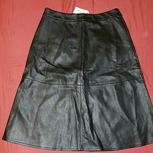 Faux leather skirt from forever21
