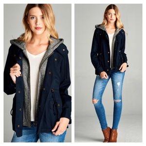 Jackets & Blazers - 3/4 Roll Up Sleeve Utility Jacket