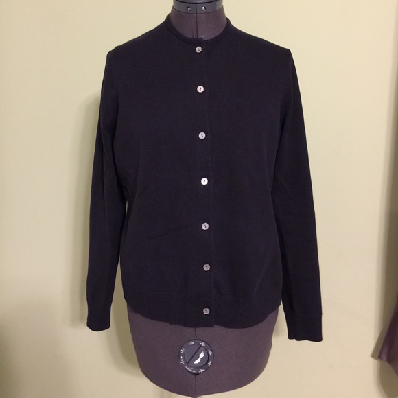 55ec5160feb Lands' End Sweaters | Lands End Womens Supima Cotton Cardigan ...
