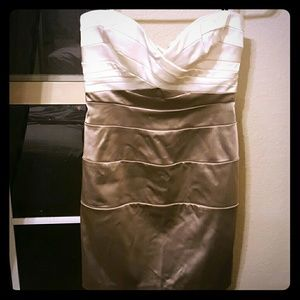 bebe Dresses & Skirts - Bebe strapless mini dress/cocktail dress
