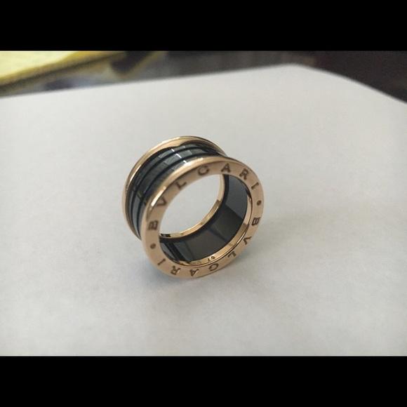 bulgari jewelry bvlgari zero1 ring 18k rose gold size 57 us 8