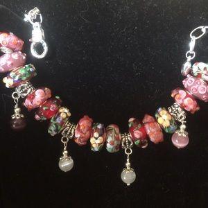 Jewelry - Silver bracelet with Murano beads