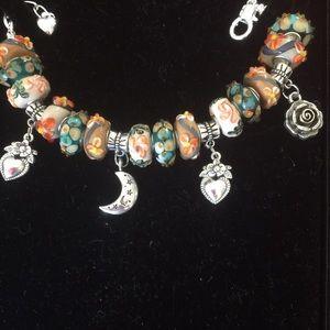Jewelry - Murano beads silver bracelet
