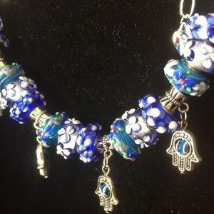 Jewelry - Murano bead silver bracelet