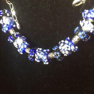 Jewelry - Murano bead on a silver bracelet