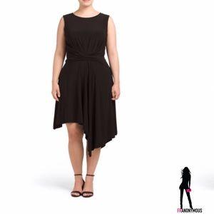 Taylor Dresses & Skirts - Plus Black Jersey Twist Front Dress