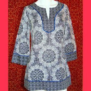 Dana Buchman Tops - Dana Buchman  bohemian 3/4 sleeve tunic blouse XS