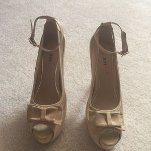 JustFab Shoes - Nude ankle strap heels
