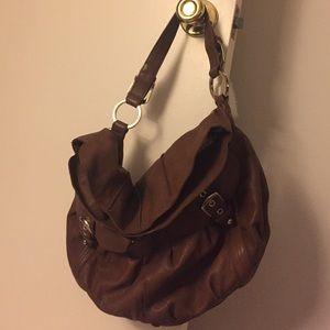 Junior Drake brown leather satchel