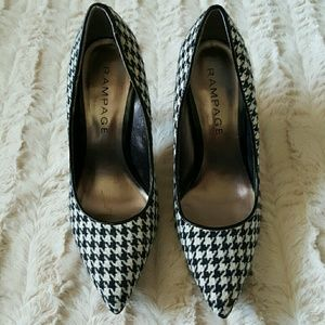 Rampage Shoes - Rampage Check Heels