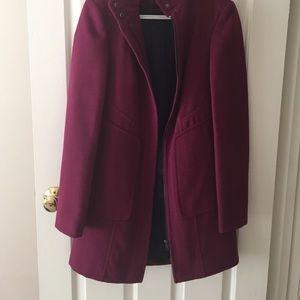 Fuschia Dorothy Perkins Pea Coat, UK 6/US 4