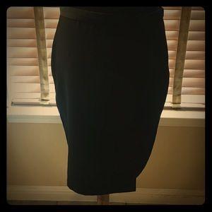 Lola black skirt with side slit